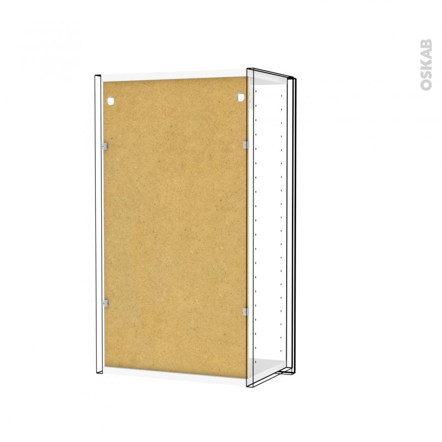 Armoire de salle de bains rangement haut keria ivoire 1 for Miroir salle de bain rangement