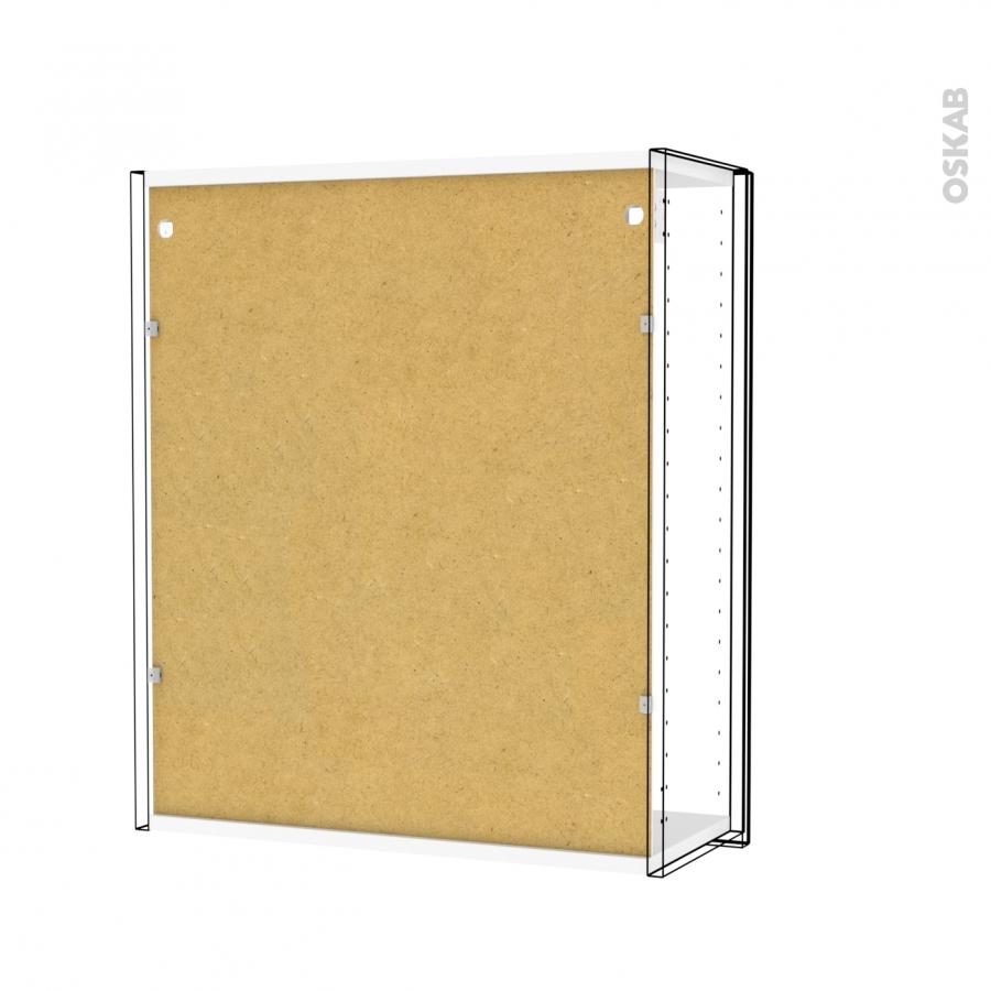 Armoire de salle de bains rangement haut ipoma blanc 1 for Miroir porte