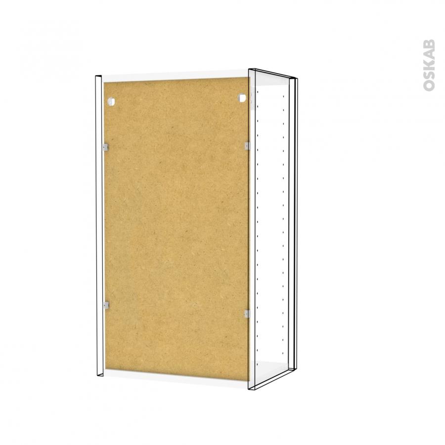 Armoire de salle de bains rangement haut ipoma blanc 1 - Rangement porte salle de bain ...