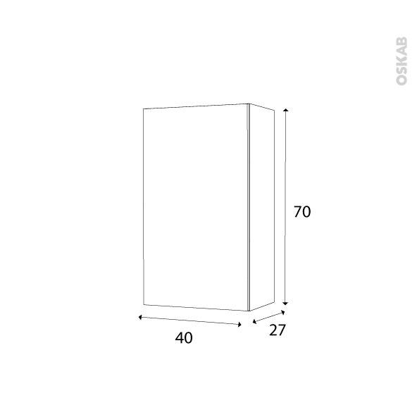 armoire de salle de bains rangement haut ipoma blanc. Black Bedroom Furniture Sets. Home Design Ideas