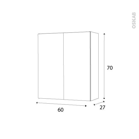 armoire de salle de bains rangement haut ginko blanc 2. Black Bedroom Furniture Sets. Home Design Ideas