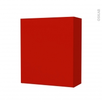 GINKO Rouge - Armoire de rangement N°212 - Côté décor - 1 porte - L60xH70xP27