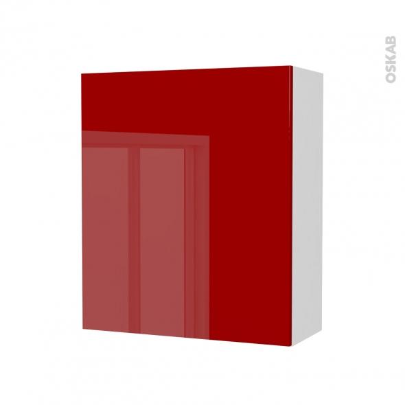 Armoire de salle de bains rangement haut stecia rouge 1 for Porte savon salle bain rouge