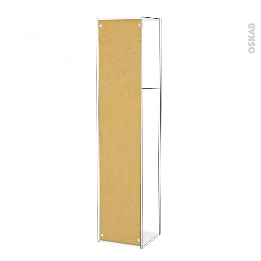 Colonne de salle de bains 2 portes ginko blanc c t s for Modele de porte de salle de bain
