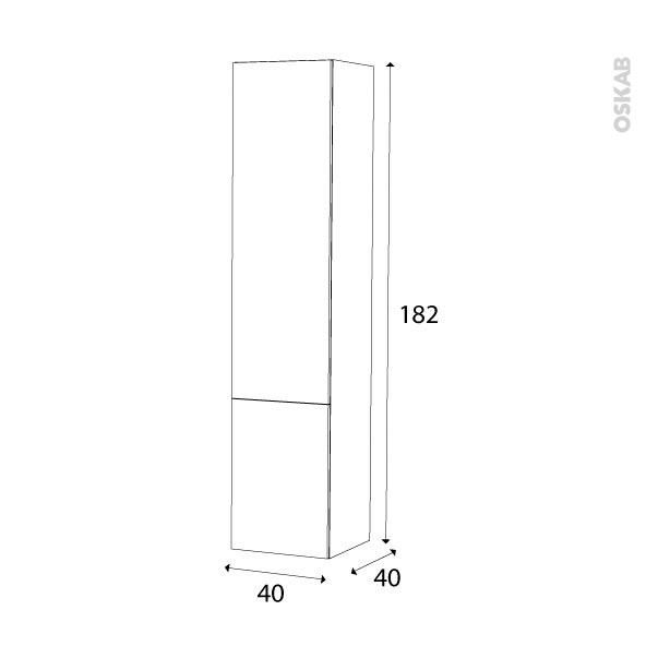 Colonne de salle de bains 2 portes ipoma blanc brillant for Colonne salle de bain 40 x 40