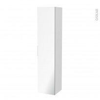 Colonne de salle de bains - 1 porte miroir - PIMA Blanc - Côtés décors - L40 x H182 x P40 cm