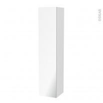 Colonne de salle de bains - 1 porte miroir - BORA Blanc - Côtés décors - L40 x H182 x P40 cm