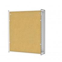 Armoire de toilette - Rangement haut - BORA Blanc - 1 porte miroir - Côtés décors - L60 x H70 x P17 cm