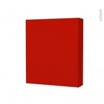 GINKO Rouge - Armoire de toilette N°212 - Côté décor - 1 porte - L60xH70xP17