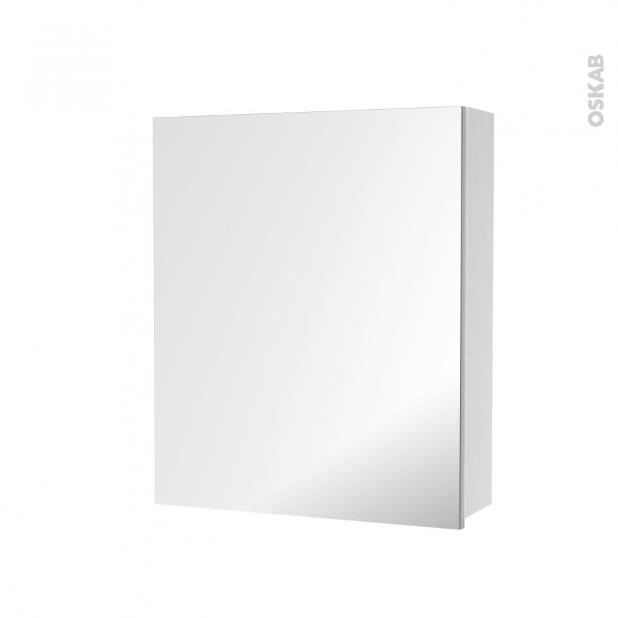 Armoire de toilette rangement haut 1 porte miroir c t s for Porte miroir 60 pouces