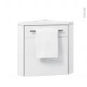 FUJI Blanc - Lave-mains d'angle L44xP26xH55,4