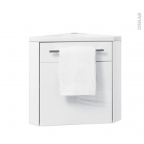 Meuble lave-mains d'angle - FUJI Blanc - L44 x P26 x H55,4 cm