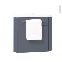 Meuble lave-mains d'angle - FUJI Bleu gris - L44 x P26 x H55,4 cm