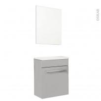 Meuble lave-mains - FUJI Taupe - Avec miroir - L44 x P26 x H55,4 cm