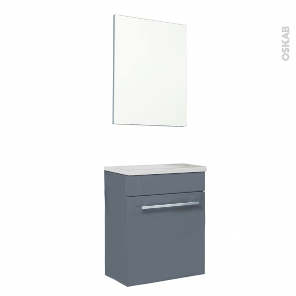 FUJI Bleu gris - Meuble lave-mains L44xP26xH55,4