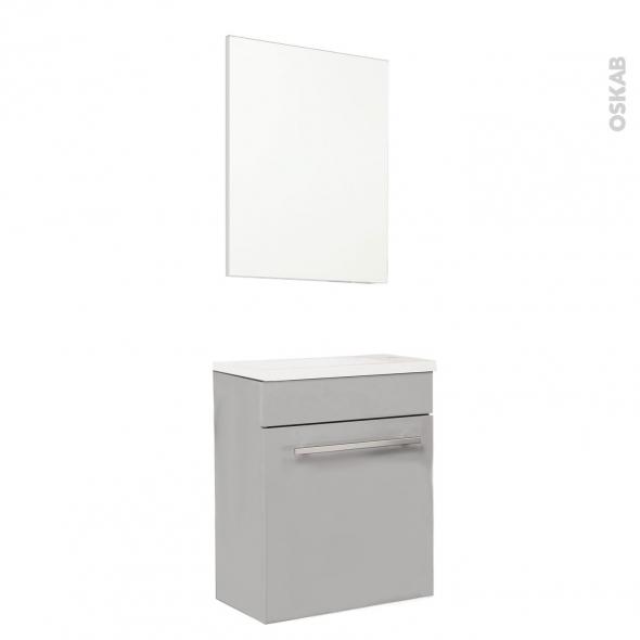 FUJI Taupe - Lave-mains L44xP26xH55,4