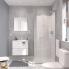 #Ensemble salle de bains - Meuble MILO Blanc - Plan vasque céramique - L61,5 x P46 x H56,5 cm