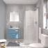 #Ensemble salle de bains - Meuble MILO Bleu - Plan vasque céramique - L61,5 x P46 x H56,5 cm