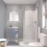#Ensemble salle de bains - Meuble MILO Gris - Plan vasque céramique - Miroir - L61,5 x P46 x H56,5 cm