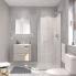 #Ensemble salle de bains - Meuble MILO Sable - Plan vasque céramique - Miroir - éclairage - Robinet Chromé - L61,5 x P46 x H56,5 cm