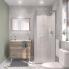 #Ensemble salle de bains - Meuble TINA Bois - Plan vasque céramique - Miroir - éclairage - Robinet Chromé L81 x P46,5 x H82 cm