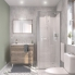 #Ensemble salle de bains - Meuble TINA Bois - Plan vasque céramique - Miroir - L81 x P46,5 x H82 cm
