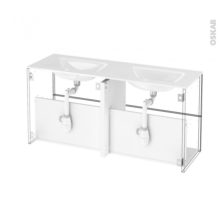 meuble de salle de bains plan double vasque egee hosta ch ne naturel 4 tiroirs c t s d cors l120. Black Bedroom Furniture Sets. Home Design Ideas