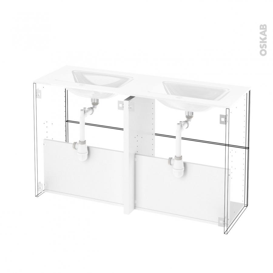 Meuble de salle de bains plan double vasque vala hosta for Meuble salle de bain naturel