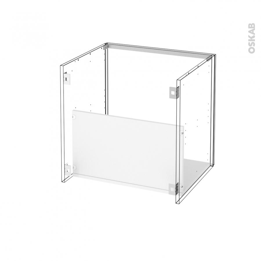 Meuble de salle de bains sous vasque ginko blanc 1 porte for Meuble de salle de bain 60 x 50