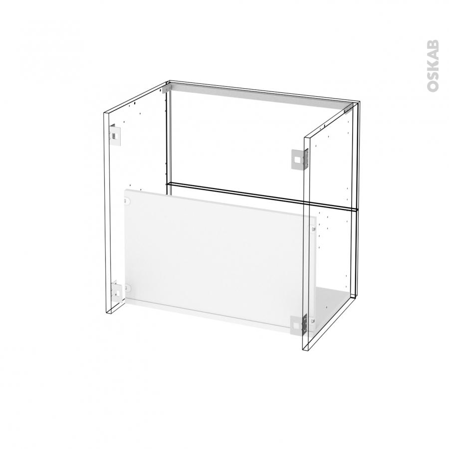 Meuble de salle de bains sous vasque ikoro ch ne clair 2 for Meuble salle de bain 60 x 45