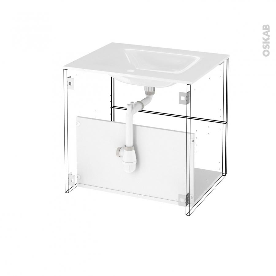 Meuble de salle de bains plan vasque vala ginko blanc 2 for Horizon meuble de salle de bain 59 cm blanc