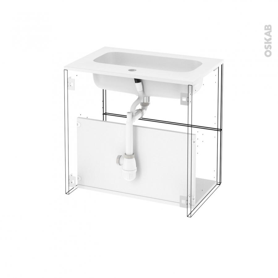 meuble de salle de bains plan vasque rezo ipoma ch ne naturel 2 tiroirs c t s d cors l60 5 x h58. Black Bedroom Furniture Sets. Home Design Ideas