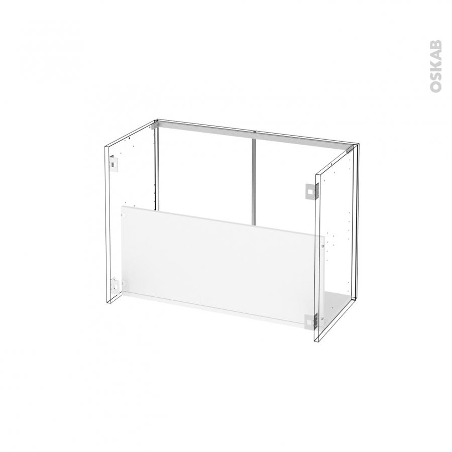meuble de salle de bains sous vasque keria ivoire 2 portes c t s d cors l80 x h57 x p40 cm oskab. Black Bedroom Furniture Sets. Home Design Ideas