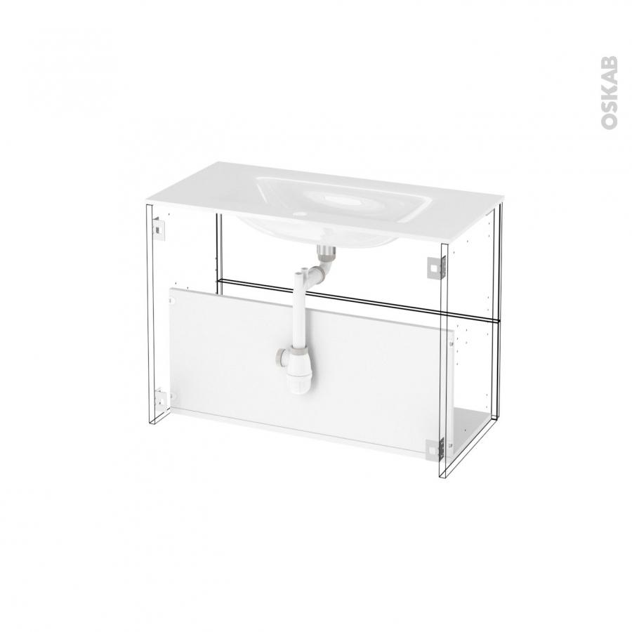 Meuble de salle de bains plan vasque egee ipoma ch ne for Meuble salle de bain naturel