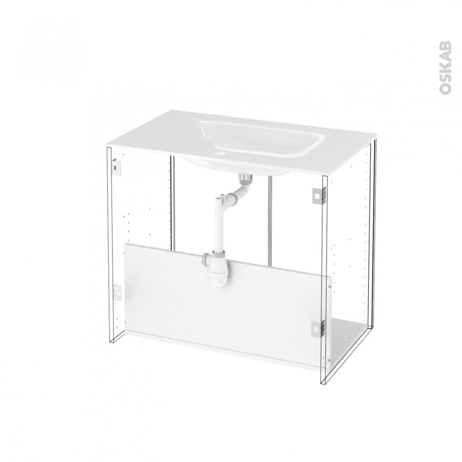 Meuble de salle de bains plan vasque vala hosta ch ne for Meuble salle de bain sans porte