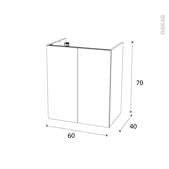Meuble de salle de bains sous vasque keria aubergine 2 for Meuble salle de bain 60 x 45