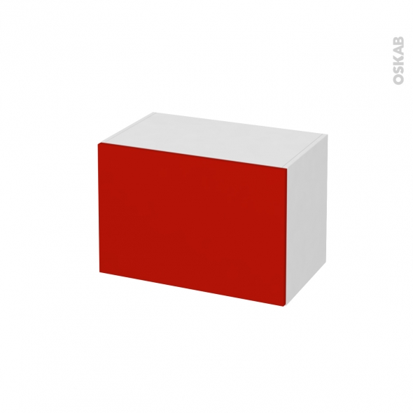 GINKO Rouge - Meuble bas salle de bains prof.37 - 1 tiroir - L60xH41xP37