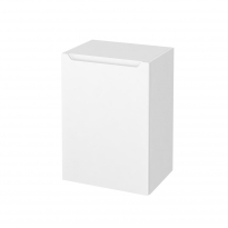 PIMA Blanc - Meuble bas salle de bains prof.37 - 1 porte - L50xH70xP37