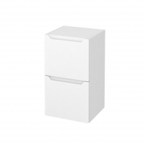 PIMA Blanc - Meuble bas salle de bains prof.37 - 2 tiroirs - L40xH70xP37