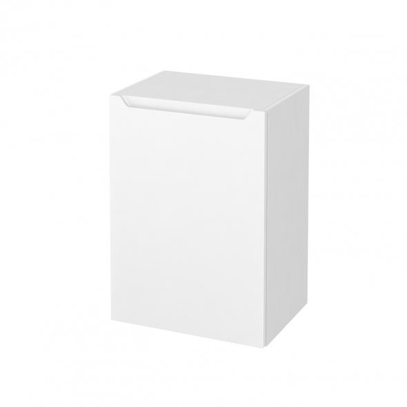 Meuble de salle de bains - Rangement bas - PIMA Blanc - 1 porte - L50 x H70 x P37 cm