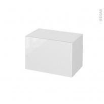 Meuble de salle de bains - Rangement bas - BORA Blanc - 1 tiroir - L60 x H41 x P37 cm
