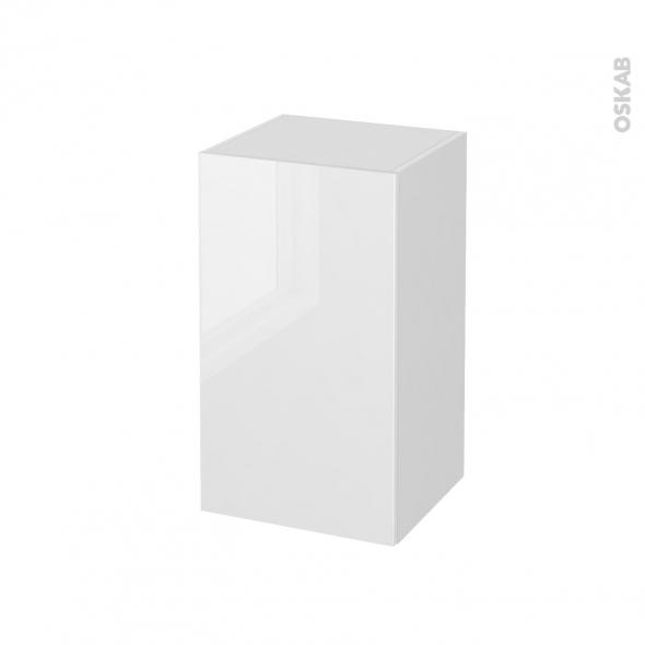 meuble de salle de bains rangement bas bora blanc 1 porte