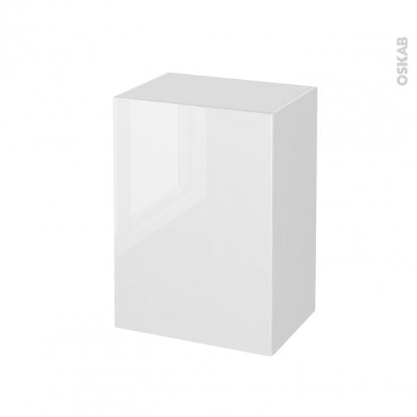 STECIA Blanc - Meuble bas salle de bains prof.37 - 1 porte - L50xH70xP37