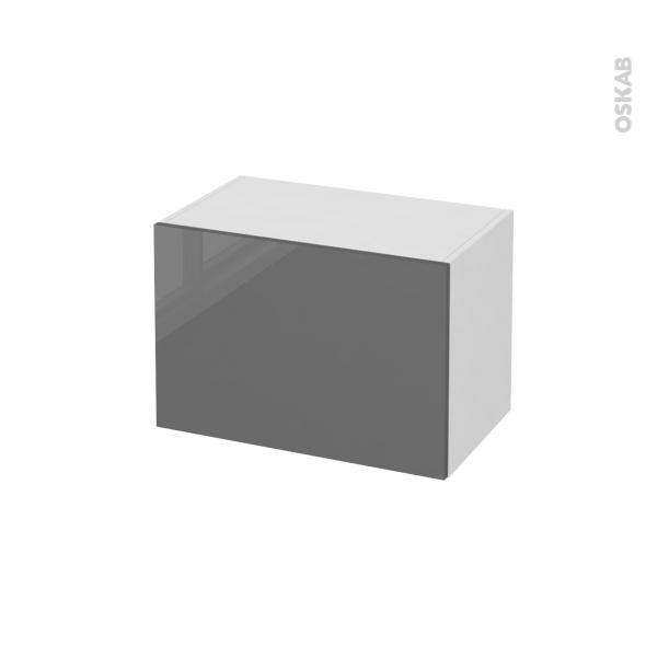 STECIA Gris - Meuble bas salle de bains prof.37 - 1 porte - L60xH41xP37