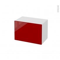 STECIA Rouge - Meuble bas salle de bains prof.37 - 1 tiroir - L60xH41xP37