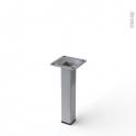 Pied en acier carré - CHIC - H15cm - Acier brossé - HAKEO