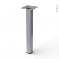 Pied en acier carré - CHIC - H25cm - Acier brossé - HAKEO