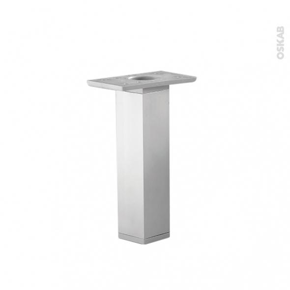 Lot de 2 pieds carr s r glables pour meuble de salle de for Meuble en plastique pour salle de bain