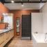 #Plan de travail salle de bains N°304 - Décor Ardoise - Stratifié - Chant coordonné - L204 x l62 x E3.8 cm - PLANEKO