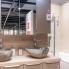 #Plan de travail salle de bains N°213 - Décor Chêne clair Ikoro - Stratifié - Chant coordonné - L204 x l62 x E3.8 cm - PLANEKO